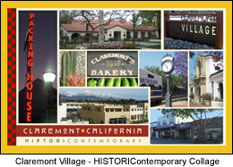 Postcard Claremont Village CA
