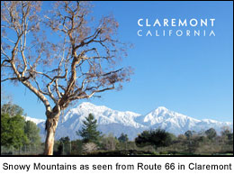 Photo Snowy Mountains near Claremont CA
